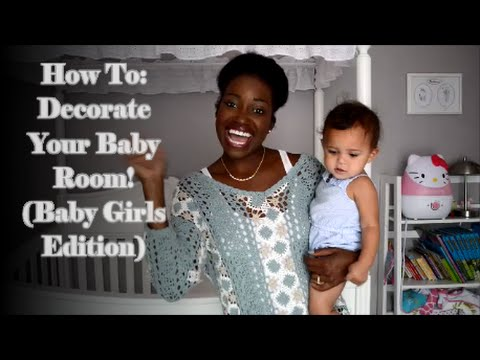 How To: Decorate Your Baby Room! (Baby Girls Edition) | Nursery Tour