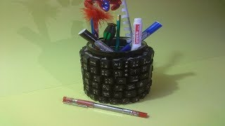 DIY Pen stand | How to make pen stand from keyboard keys | Recycle | craft ideas