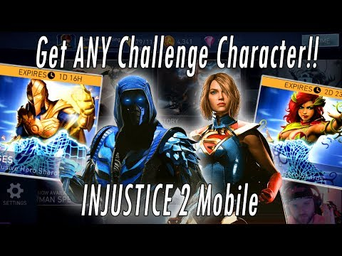 How To Get Any Challenge Character! Supergirl! Sub-Zero! Dr Fate! Joker Flash Ivy Injustice 2 Mobile
