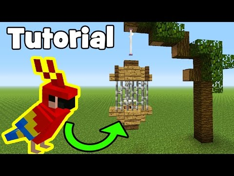 Minecraft Tutorial: How To Make A Parrot/Bird Cage