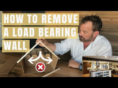 Create an open floor plan by removing a Load bearing wall