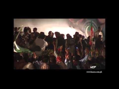 PTI rally from Mansehra to Liaqat Bagh, Rawalpindi