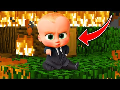 Minecraft  : BOSS BABY IS DESTROYING THE WORLD! (Ps3/Xbox360/PS4/XboxOne/PE/MCPE)