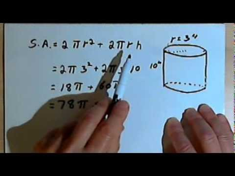 Surface Area of a Cylinder 128-4.11