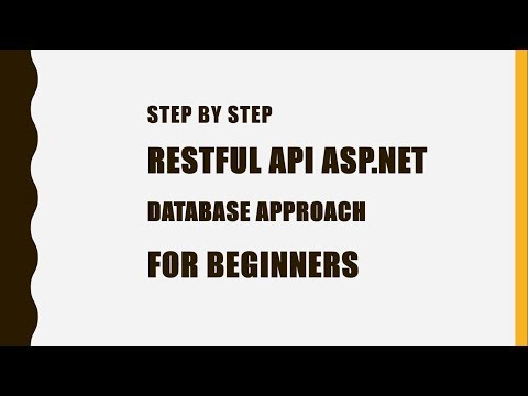 Building a Restful web API with ASP.NET [Database First Approach][VS 2017]