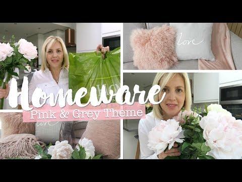 Homeware Haul | Blush Pink & Grey Theme | Homesense, Dusk Luxury Bedding & Wilko