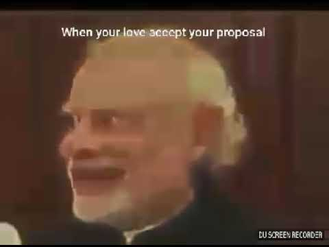 When your love accept your proposal