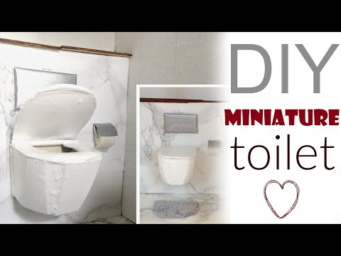 diy: DOLL TOILET (dollhouse bathroom pt.2)