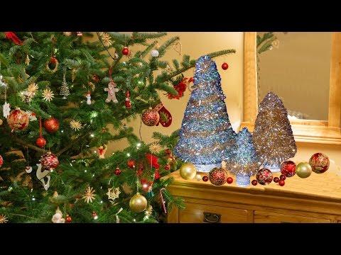 Christmas tree decoration 2017 || How to make Christmas Tree || Christmas Table Top