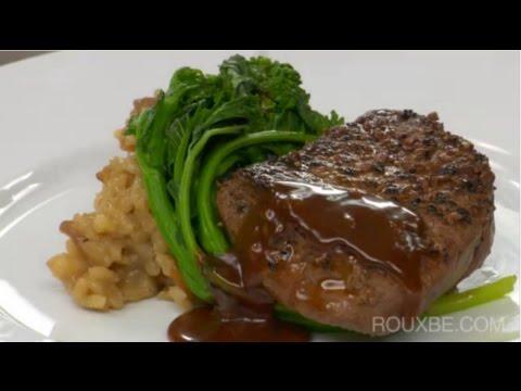 How to make Beef Tenderloin w/ Peppercorn Sauce | Steak au Poivre