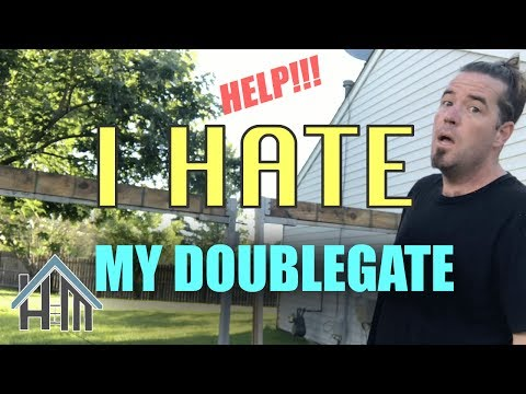 HELP I hate my DOUBLE GATE and how to fix it. Easy! Home Mender.