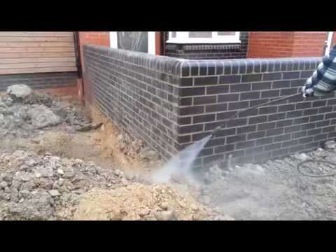 Cleaning brickwork on site  - HERTS PRESSURE WASHING