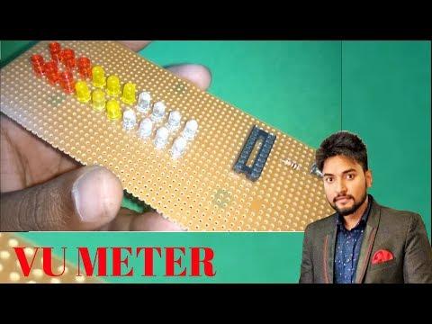HOW TO MAKE VU METER LED USING 20 LED