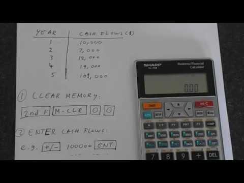 Sharp EL-738: Internal Rate of Return (IRR)