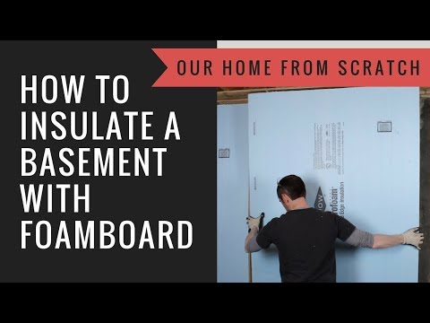 How to Insulate a Basement with XPS Foamboard and Horizontal Fireblocking