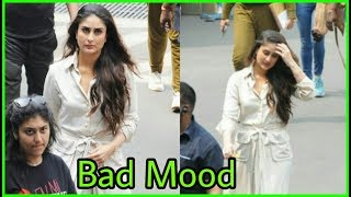For first time Kareena Kapoor Khan spotted in a bad and angry mood at the airport |ohh !
