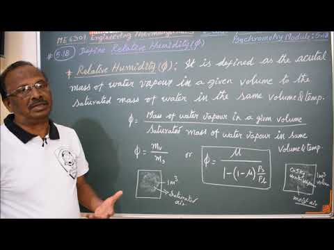 Definition of Relative Humidity - M5.18 - Engineering Thermodynamics in Tamil