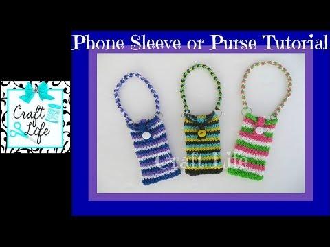 Craft Life Phone Sleeve or Purse on One Rainbow Loom fits iPhone & iPod