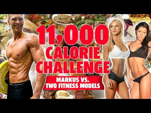EPIC 11,000 CALORIE CHALLENGE AND Markus vs 2 Fitness Models