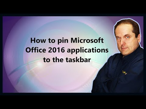 How to pin Microsoft Office 2016 applications to the taskbar