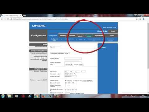 Como abrir puertos en Router Linksys