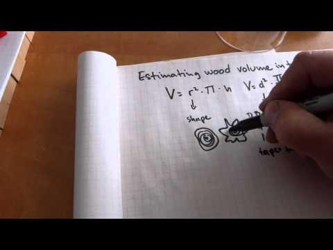 Estimate wood volume in trees/logs