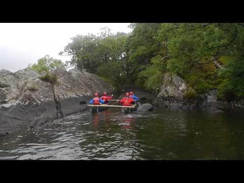 Landing on Peel island on Coniston water