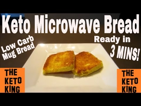 Keto Microwave Bread– only 3 MINS!! | Keto Mug Bread ǀ Low Carb Mug Bread | Low Carb Microwave Bread