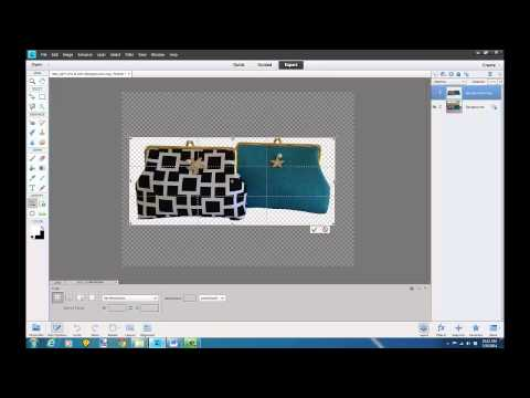 Quickly get image cut out on white background Photoshop Elements