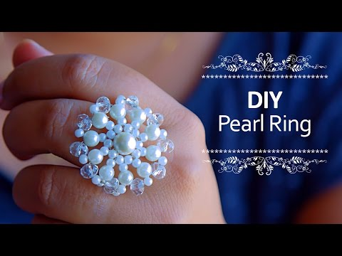Beautiful Pearl ring | How to make pearl ring at home | DIY | Beads art