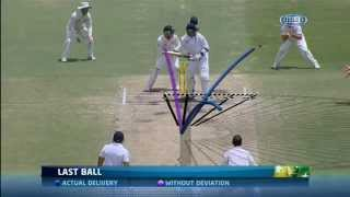 Unbelievable!! Biggest Spin Ever-- Nathan Lyon hits a crack on the WACA pitch