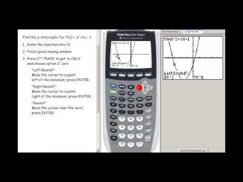 Graphing Calculator - Finding Zeros
