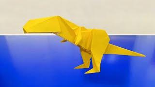 Cara Membuat Origami Dinosaurus T-Rex | Origami Binatang - YouTube | 180x320