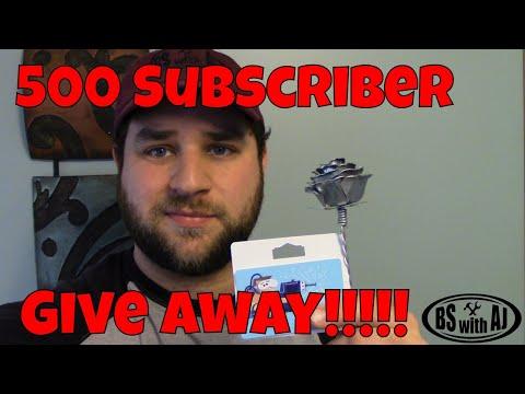 500 Subscriber Giveaway!!!!!