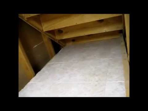 how to make additional storage space under a closed staircase at home