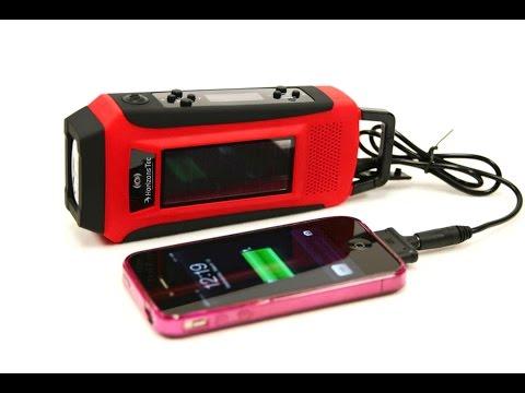NOAA weather radio tornado warning - Emergency Radio Solar Hand Crank Powered Mobile Phone Charger