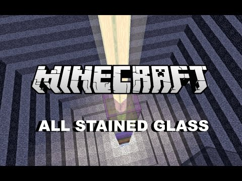 Minecraft 1.8 (New Update) - ALL AWESOME STAINED GLASS !