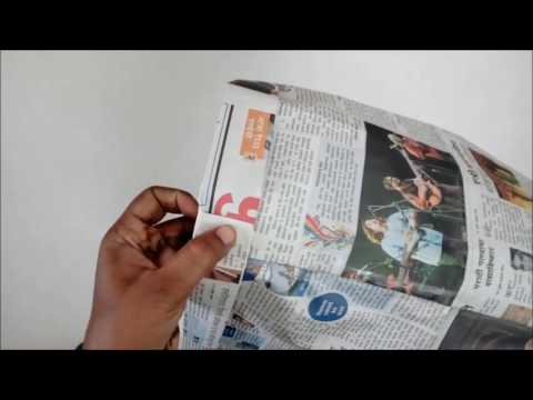 How to make Newspaper Bag for Laundry use which can carry 5 kg