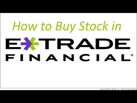 How to Buy Stock in Etrade