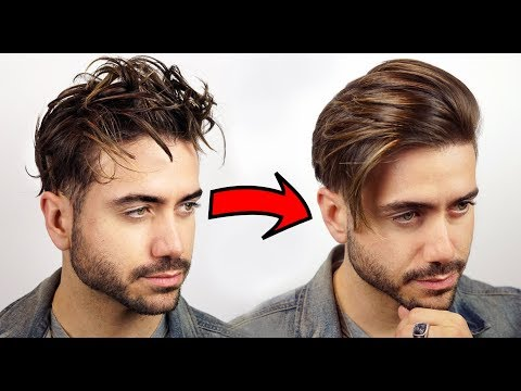 HOW TO GET STRAIGHT HAIR | Men's Curly to Straight Hair Tutorial 2018