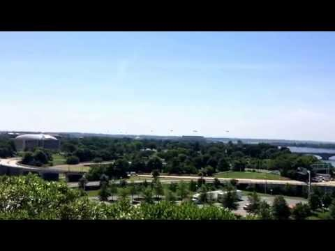 24 Army Helicopters Fly Through Washington DC