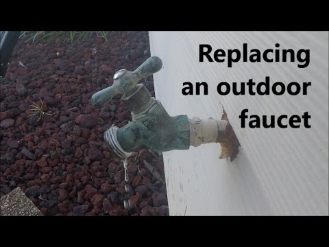 Replacing a leaking faucet: How to replace an outdoor faucet.