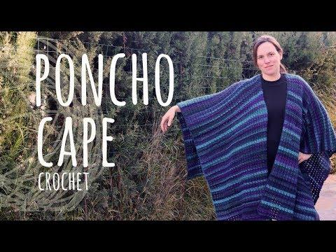 Tutorial Poncho | Cape Easy Crochet