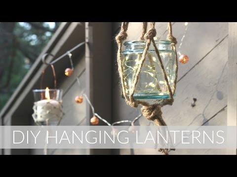 DIY MACRAME STYLE HANGING LANTERNS || Outdoor DIY + Decor Challenge