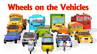 Wheels On The Bus Go Round And Round (Vehicles 2) - 3D Nursery Rhymes & Songs for Kids