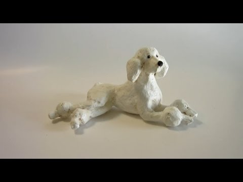 painting paper mache dogs