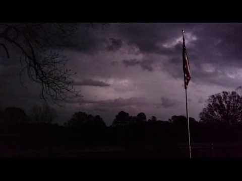 Beautiful lightning storm filmed in South Georgia