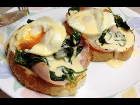 Eggs Florentine Cafe Style Video recipe cheekyricho