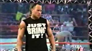 Vince Mcmahon Recieves StoneCold Stunner,Rock Bottom, Undertaker Last Ride at the Same Time.flv
