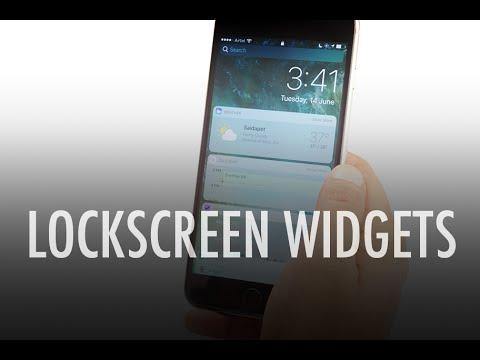iPhone Lockscreen Widgets on iOS 10